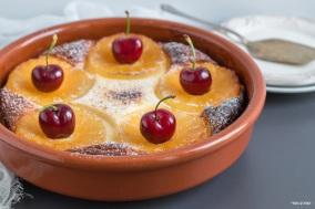 עוגת גבינה אפויה עם צימוקים ואננס_מקרוב